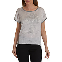 Buy Betty Barclay Embellished Top, Off White/Ash Online at johnlewis.com