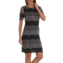 Buy Betty Barclay Lace Shift Dress, Grey/Black Online at johnlewis.com