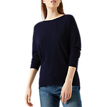 Buy Jigsaw Button Back Dropped Hem Jumper Online at johnlewis.com