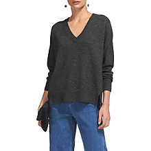 Buy Whistles Cashmere V-Neck Jumper, Grey Online at johnlewis.com