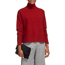 Buy Whistles Funnel Neck Wool Jumper, Red Online at johnlewis.com