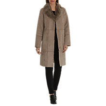 Buy Betty Barclay Faux Shearling Coat, Moon Rock Online at johnlewis.com