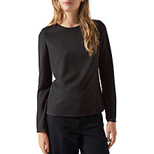 Buy Jigsaw Iridescent Crew Neck Top, Silver Online at johnlewis.com