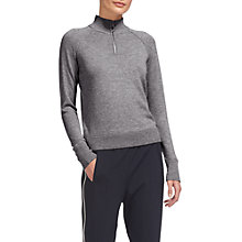 Buy Whistles Zip Front Funnel Neck Jumper, Grey Marl Online at johnlewis.com