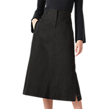 Buy Jigsaw Denim Midi Skirt, Black Online at johnlewis.com