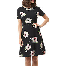 Buy Sugarhill Boutique Ohara Bold Floral Dress, Black Online at johnlewis.com