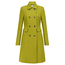 Buy Hobbs Jasmin Wool Coat, Acacia Green Online at johnlewis.com