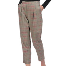Buy Whistles Check Cropped Carrot Leg Trousers, Multi Online at johnlewis.com