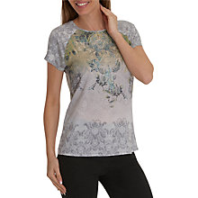 Buy Betty Barclay Paisley Print Cap Sleeve Round Neck T-Shirt, Grey/Green Online at johnlewis.com