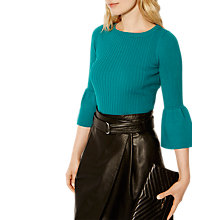 Buy Karen Millen Fluted Sleeve Jumper, Aqua Online at johnlewis.com