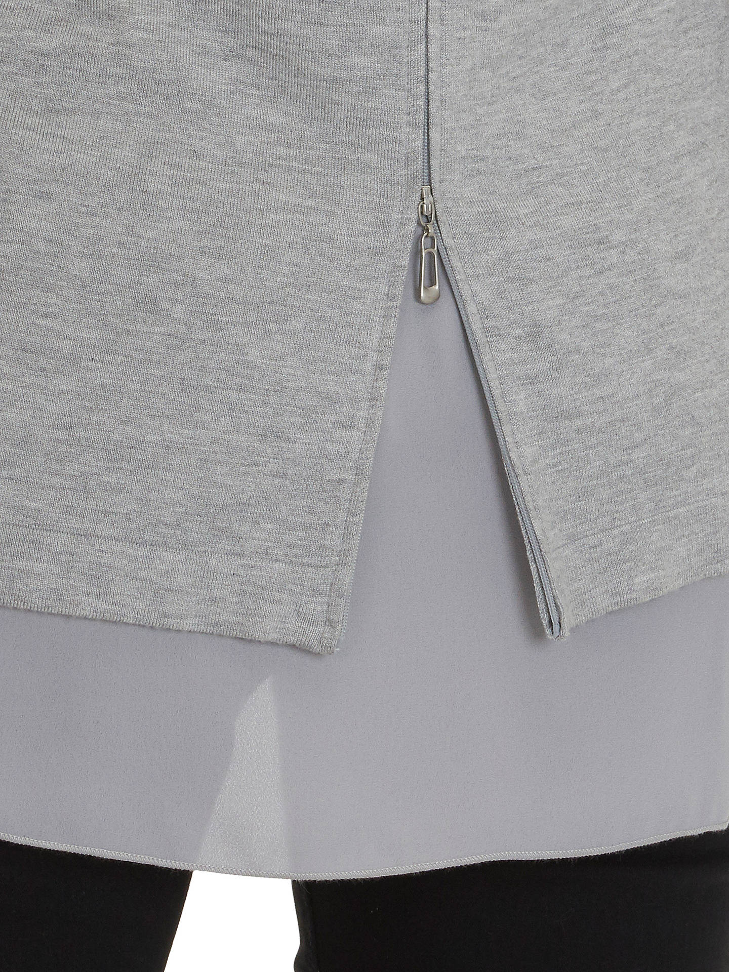 BuyBetty Barclay Oversized Double Layer Jumper, Light Grey/Melange, 8 Online at johnlewis.com