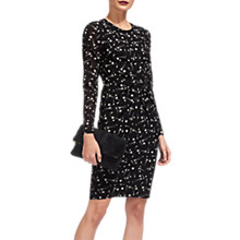 Buy Whistles Phoebe Constellation Bodycon Dress, Black/White Online at johnlewis.com