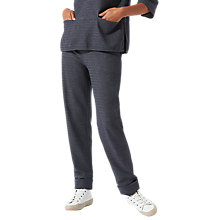 Buy Jigsaw Herringbone Jersey Trousers, Navy Online at johnlewis.com