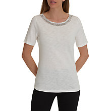Buy Betty Barclay Embellished Neck T-Shirt, Off White Online at johnlewis.com