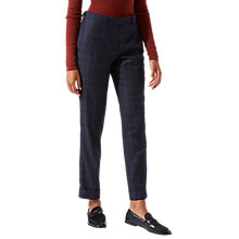 Buy Jigsaw Window Check London Wool Trousers, Navy Online at johnlewis.com
