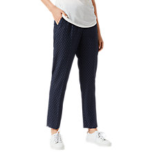 Buy Jigsaw Portofino Cross Tailoring Wool Trousers, Navy Online at johnlewis.com