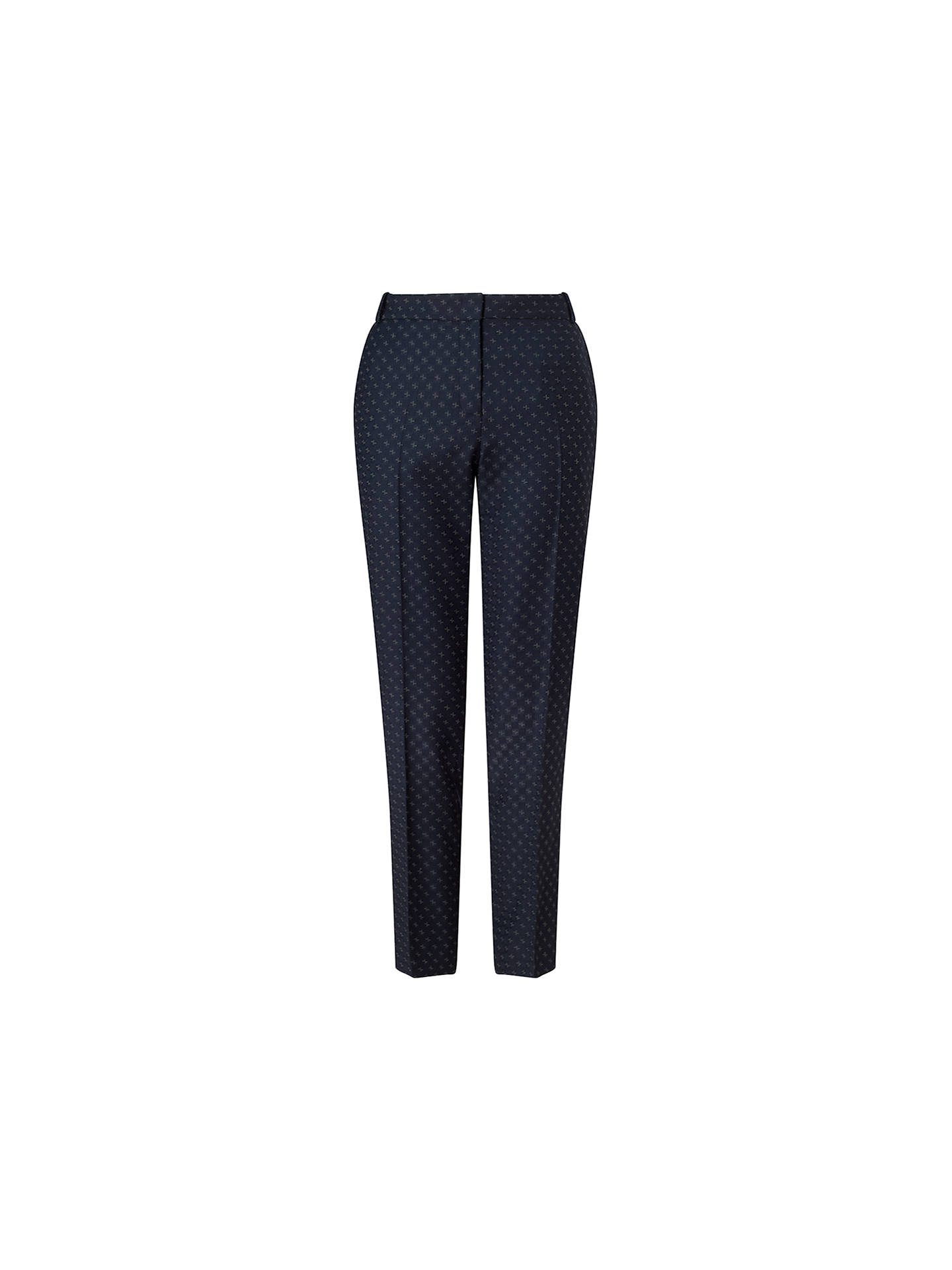 BuyJigsaw Portofino Cross Tailoring Wool Trousers, Navy, 6 Online at johnlewis.com