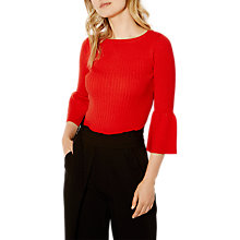 Buy Karen Millen Fluted Sleeve Jumper, Red Online at johnlewis.com