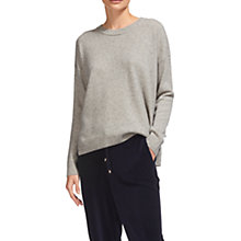 Buy Whistles Rib Neck Cashmere Jumper, Grey Online at johnlewis.com