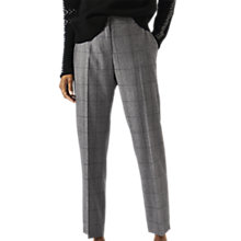 Buy Jigsaw Shadow Check Portofino Wool Trousers, Grey Online at johnlewis.com