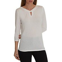 Buy Betty Barclay Three Quarter Sleeve Top, Off White Online at johnlewis.com