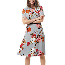 Buy Sugarhill Boutique Painterly Floral Dress, Pale Grey/Multi Online at johnlewis.com