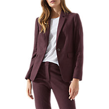 Buy Jigsaw Melange One Button London Jacket, Aubergine Online at johnlewis.com