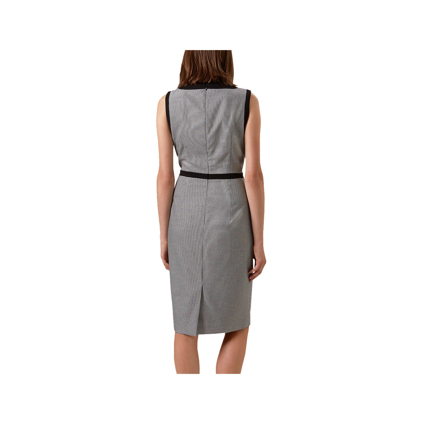 BuyHobbs Sian Dress, Black/White, 6 Online at johnlewis.com