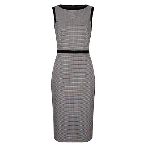Buy Hobbs Sian Dress, Black/White Online at johnlewis.com
