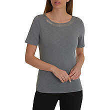 Buy Betty Barclay Embellished Round Neck Short Sleeve T-Shirt, Silver Stone Online at johnlewis.com