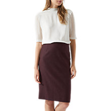 Buy Jigsaw Pencil Skirt, Aubergine Online at johnlewis.com