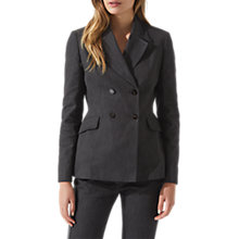 Buy Jigsaw Denim Dovima Jacket, Charcoal Online at johnlewis.com