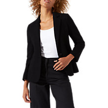 Buy Jigsaw Double Knit Raw Edge Blazer Jacket, Black Online at johnlewis.com
