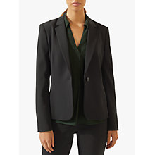 Buy Jigsaw Seam Detail Paris Blazer Jacket, Black Online at johnlewis.com
