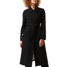 Buy Jigsaw Storm Longline Trench Coat, Black Online at johnlewis.com