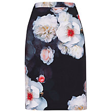 Buy Ted Baker Lieyaa Chelsea Pencil Skirt, Black/Multi Online at johnlewis.com