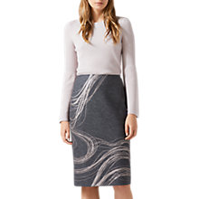 Buy Jigsaw Storm Contours Pencil Skirt, Grey/White Online at johnlewis.com