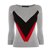 Buy Karen Millen Bodyline Collection Jumper, Grey/Multi Online at johnlewis.com