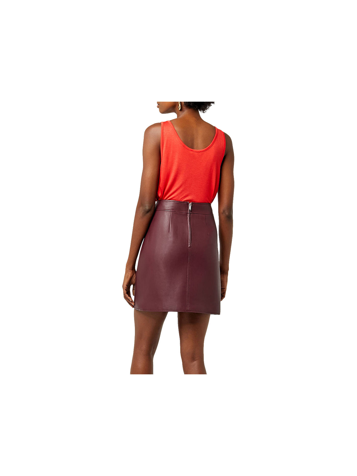 ecea421d3 What To Wear With A Dark Red Leather Skirt – DACC