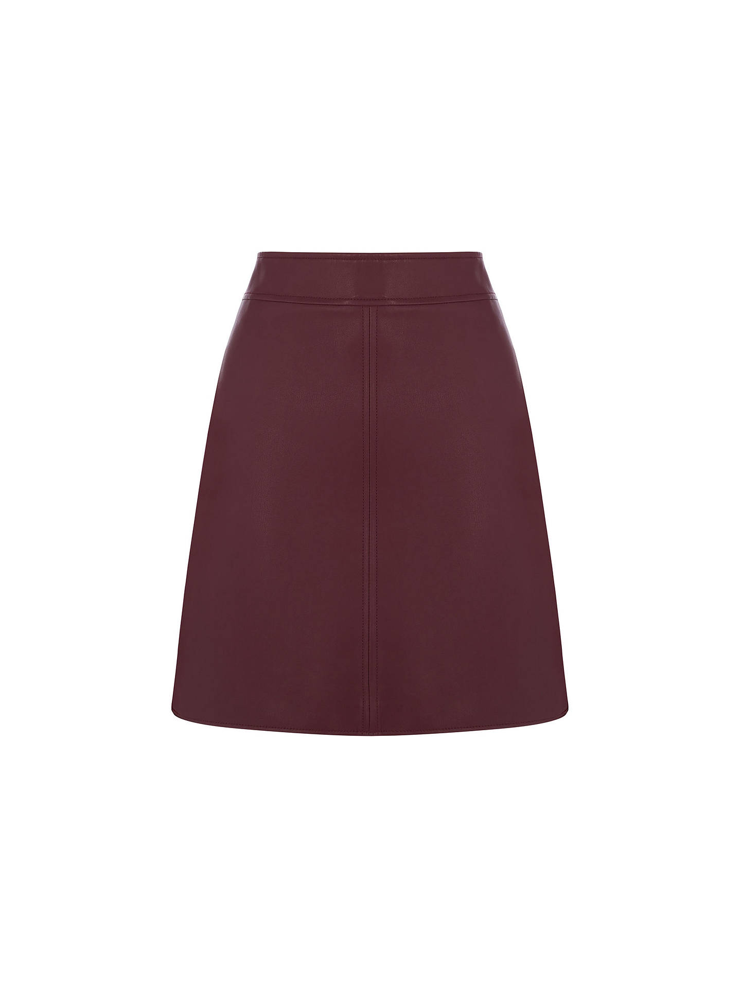 662158c0b2c6 Warehouse Dark Red Faux Leather Skirt