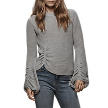 Buy Miss Selfridge Balloon Sleeve Jumper, Grey Online at johnlewis.com