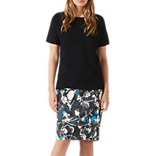 Buy Jigsaw Thistle Print Skirt, Midnight Green Online at johnlewis.com