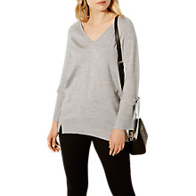 Buy Karen Millen Tie Cuff Tunic Jumper, Grey Online at johnlewis.com