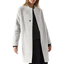 Buy Jigsaw Alpaca Cocoon Coat, Haze Grey Online at johnlewis.com