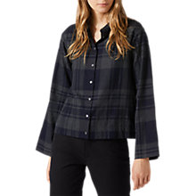 Buy Jigsaw Check Cropped Shirt Online at johnlewis.com