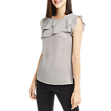 Buy Oasis Linen Look Shell Top, Grey Marl Online at johnlewis.com