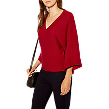 Buy Karen Millen Kimono Jumper, Red Online at johnlewis.com