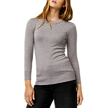 Buy Warehouse Embellished Pearl Jumper Online at johnlewis.com