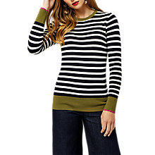 Buy Warehouse Breton Block Stripe Jumper, Navy Online at johnlewis.com