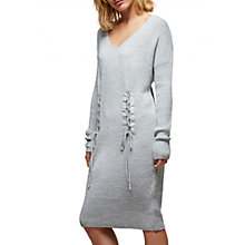 Buy Miss Selfridge V-Neck Corset Dress, Grey Online at johnlewis.com